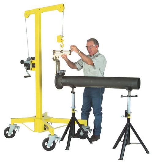 Sumner Fab-Mate 1,000 lb capacity (450 kg), 7 ft (2.1 m) lifting capacity