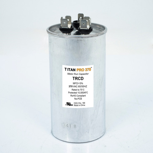 Packard TRCD405 TITAN PRO Run Capacitor 40+5 MFD 370 Volt Round Replaces 12178