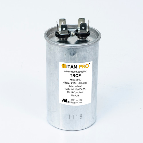 Packard TRCF40 TITAN PRO Run Capacitor 40 MFD 440/370 Volt Oval Replaces 12245