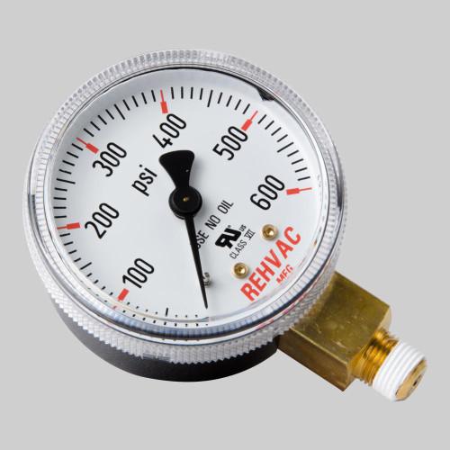 Rehvac GA-06 600 psi Low Pressure Replacement Gauge