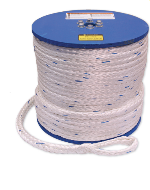 "Current Tools EZRP9166 9/16"" x 600' Low Friction Lightweight Pulling Rope 32,000 lbs Rated"