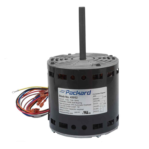 Packard 45052 1/2 HP 1050 RPM/4 Spd 115 Volt PSC Motor Replaces ICP 1009052