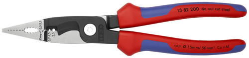 Knipex 13 82 200 SB 8'' 6 in 1 Electrical Installation Pliers-Metric Wire