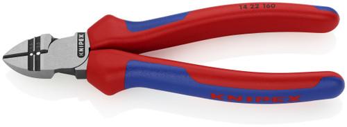 Knipex 14 22 160 6 1/4'' Diagonal Cutting Pliers w/ Stripper-Comfort Grip 13, 15 AWG
