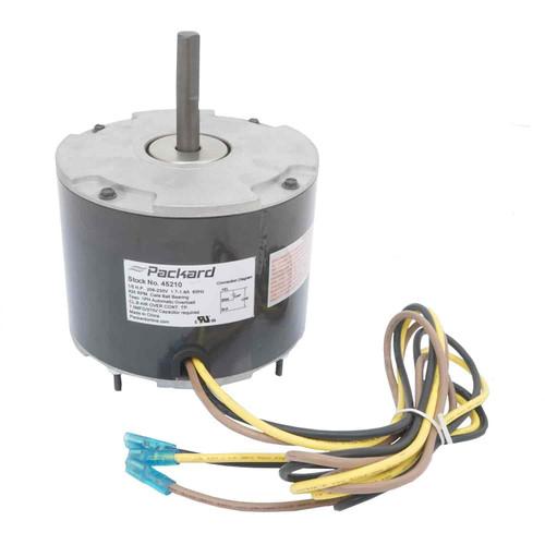Packard 45210 1/5 HP 825 RPM 208-230 Volt Condenser Fan Motor Replaces Carrier HC37GE210