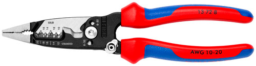 Knipex 13 72 8 Forged Wire Strippers - Multi-Component Handle