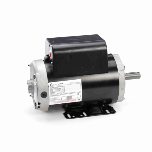 Century B386 5 HP Air Compressor Motor 3600 RPM 208-230 Volts 1 phase 56Y Frame