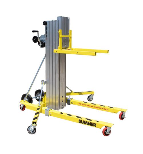 Sumner 2012SG Galvanized Short Stack Material Lift 12' Height 800 Lb Capacity