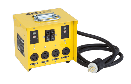 CEP 6502GTL 20A 125/250V (L14-20P) / 4 – 20A 125V (L5-20R) Twistlock GFCI Mini Box