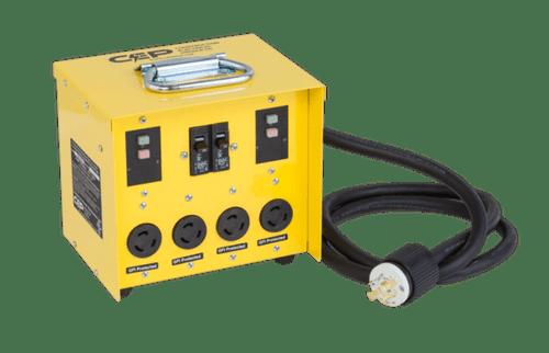 CEP 6503GTL 30A 125/250V (L14-30P)/4–20A 125V (L5-20R) Twistlock GFCI Mini Box
