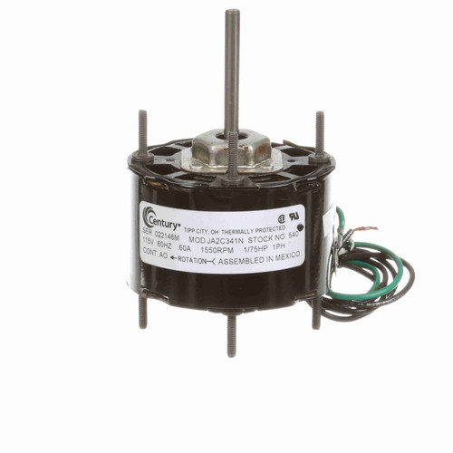 Century 540 3.3 Inch Diameter Motor 115 Volts 1550 RPM Replaces A0540
