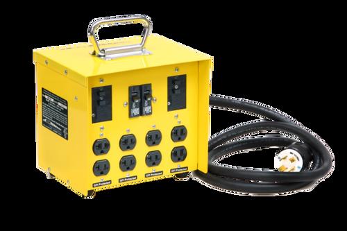CEP 6502GU Input 20A 125/250V (L14-20P)/Output 4-20A 125/250V (5-20R) Duplex GFCI Mini Box