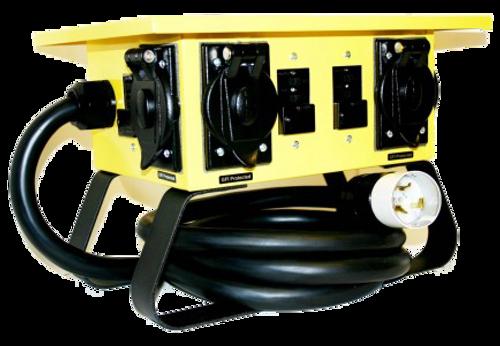 CEP 6508G Input 50A 125/250V (CS6365)/Output 4-20A 125V (L5-20R) twistlock