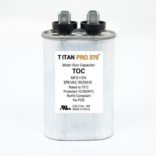 Packard TOC15 Titan Pro 370 Volt Oval Motor Run Capacitor 15 MFD