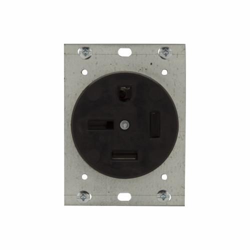 Eaton Wiring Devices 8450N RECP SINGLE 50A 250V 3PH 3P4W STR BK