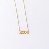 - Gold  - Collar Bone Length - Clasp Closure  BIRTH YEAR CHARM