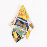 """- Yellow/Navy/Teal/Red  - Horse Print  - 19"""" Square  - Silk Feel  -Neckerchief    100% Polyester"""