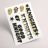 -Black and Gold -Multi Pack  -Stickers