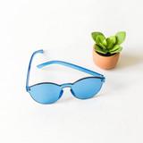 -Blue -Round -Sunglasses -Medium Lens