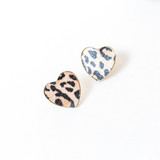 -Gold -Jaguar Print -Stud -Earrings  STUD EARRING 12.00