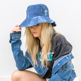 -Blue -Bleached -Bucket Hat