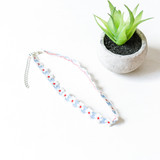 """-Daisy -Embroidered -Adjustable -Clasp -Choker  Length: 13-15"""""""