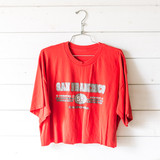 """-Red -San Francisco Graphic -Crew Neck -Short Sleeve -Cropped -T-Shirt  Size X-Large  Clothing Measurements: Bust: 22.5"""" Length: 19.5"""" Sleeve Length: 8"""""""