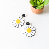 """-Black -White and Yellow Daisy -Plastic -Stud  Daisy Measures 2"""" in Diameter  *Removable protective film on stud and back of daisies."""