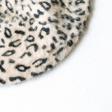 -Leopard Print -Soft -Unlined -Fabric Stretches -Beret