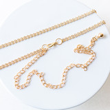 "-Gold -Rhinestones -Chainlink -Adjustable -Fashion Belt  Length: 27-47"""
