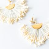 """-Gold -Pearl -Cream -Clear Backs -Earrings  1.5""""x3"""""""