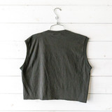 """-Cocoa Beach, Florida graphic -Crew neck -Sleeveless -Black -Cropped  Size: Large  Material: 100% Cotton  Clothing Measurements Bust: 20"""" Length: 18.5"""" Strap Length: 7"""""""