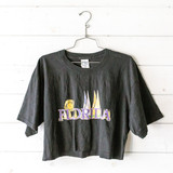 """-Florida sail boat graphic -Crew neck -Short Sleeve -Black -Cropped  Size: Large  Material: 100% Cotton  Clothing Measurements Bust: 21"""" Length: 17.5"""" Sleeve Length: 8.5"""""""