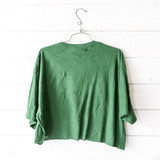 """-Green Bay Packers Football logo -Crew neck -Short Sleeve -Hunter green -Cropped  Size: XL  Material: 100% Cotton  Clothing Measurements Bust: 22.5"""" Length: 18.5"""" Sleeve Length: 9"""""""