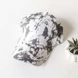 -Gray and White -Tie-Dye -Baseball Style Hat -Adjustable