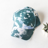 -Green and White -Tie-Dye -Baseball Style Hat -Adjustable