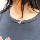 -Silver -Snake Charm -Adjustable -Chainlink -Comes in Gold
