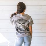 "-Grey -Biketoberfest Graphic -Crew Neck -Full Length -Short Sleeve -T-Shirt  Size Medium Material: 100% Cotton  Clothing Measurements: Bust: 19"" Length: 28"" Sleeve Length: 6.5"""