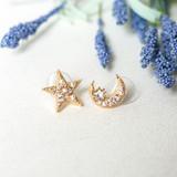 -Gold -Pearls -Rhinestones -Star -Moon -Stud