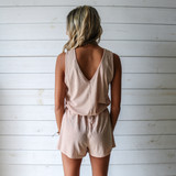 -Tan Color -V-Neck Front and Back -Tank Top -Breathable Fabric -Comes in 3 Colors -Unlined -Top -Set  Material: 65% Polyester   35% Cotton  HF21E732 TANK TAN