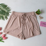 -Tan Color -Drawstring -Breathable Fabric -Comes in 3 Colors -Unlined -Bottoms -Shorts -Set  Material: 65% Polyester | 35% Cotton  HF21E732 SHORT TAN