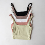-Pink -Scoop Neck -Sleeveless -Thick Straps -Knit -Fabric Stretches -Crop -Comes in 4 Colors  Material: 61% Polyester | 33% Rayon | 6% Spandex  HF21F332 CROP PNK