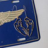 -Gold -Metal -Body Shape -Dangle -Earrings