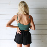 -Teal Color -Crochet Pattern -Crop Top -Skinny Straps -Comes in 4 Colors  Material: 100% Cotton  DZ21E553 TANK TEL