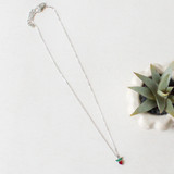 -Silver Chain -Strawberry Charm -Long Chain Length -Clasp Closure -Necklace  0421 CHARM NECKLACE STRAWBERRY