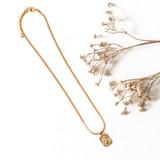 -Gold Chain -Gold Saint Charm -Medium Chain Length -Clasp Closure -Necklace  0421 CHARM NECKLACE SAINT