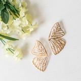 -Metal -Gold -Butterfly Design -Oversized -Dangle -Earrings  0521 DANGLE EARRING