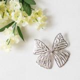 -Metal -Silver -Butterfly Design -Oversized -Dangle -Earrings  0521 DANGLE EARRING