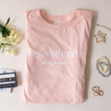 -Pink Color -White YSL Logo -Crew Neck -Long Fit -Tee Shirt  Materials: 100% Cotton  0521 PNK YSL TEE