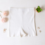 -White Color -Ribbed -Mid Thigh Length -Elastic Waistband -Matching Set (Bottoms) -Bike Shorts  Materials: 70% Viscose | 30% Polyester   W3126 SHORT WHT